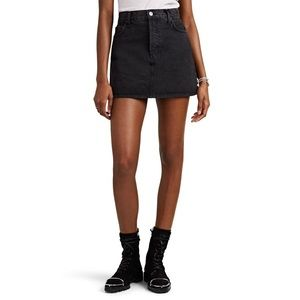 Re/Done high rise mini skirt in black, size 26
